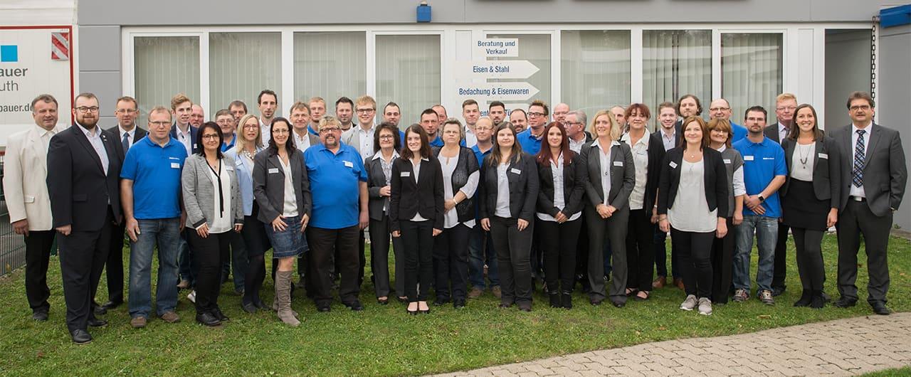 Das Team von Eisen Bauer aus Bayreuth